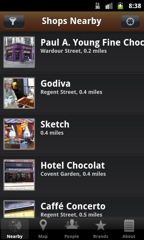 Chocolate Guide- screenshot