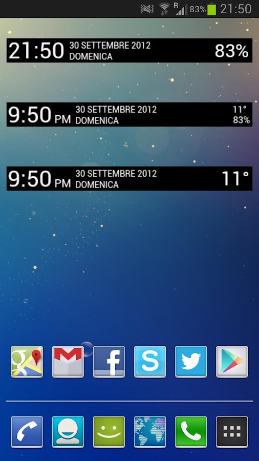 Jelly Bean Clock Widget Donate - screenshot