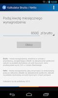 Screenshot of Kalkulator płac - Brutto/Netto
