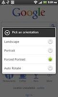 Screenshot of Orientation Control