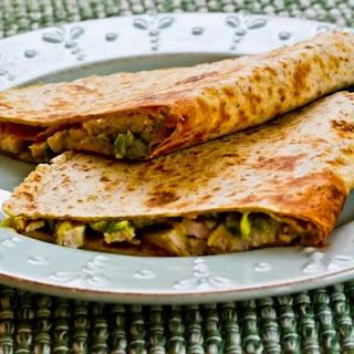 Turkey and Guacamole Quesadillas.