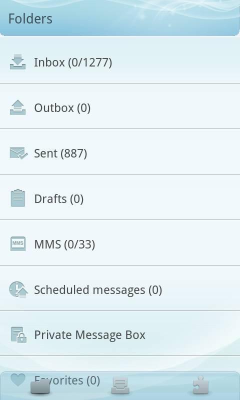 GO SMS Pro Light Blue theme screenshot #4