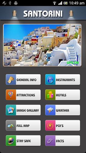 Santorini Offline Map Guide