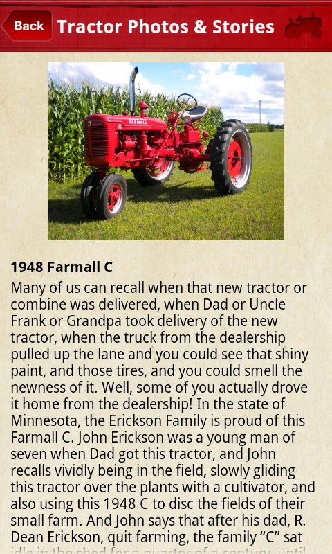 Max Armstrong's Tractor App - screenshot