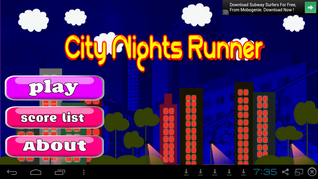 Running Games App- City Nights - screenshot