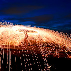 Heavenly fire by Foo Fok - Abstract Fire & Fireworks
