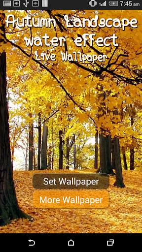 Autumn Landscape Water LWP