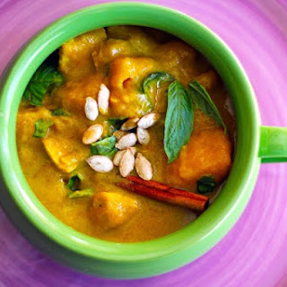 Butternut Squash Curry with Apples and Basil