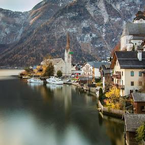Hallstatt - Classic View by Rashid Ramdan - Buildings & Architecture Public & Historical ( long exposure, travel, hallstatt, landscape, austria )