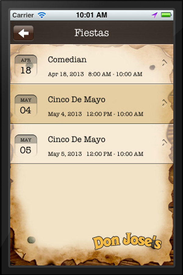 Don Jose's - screenshot