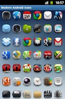 Screenshot of Modern Android icon pack