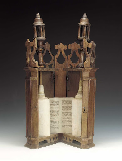 Torah case and scroll, Libya, 19th-20th century