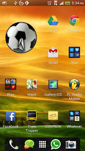 Football Soccer Clock Widget