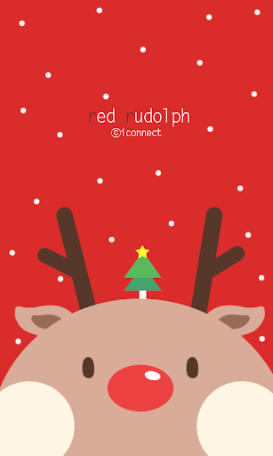 Red Rudolph Go launcher theme
