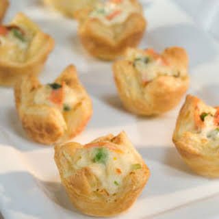 Vegetable & Cheese Pastry Puffs.