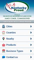 Screenshot of Kentucky Proud Locater