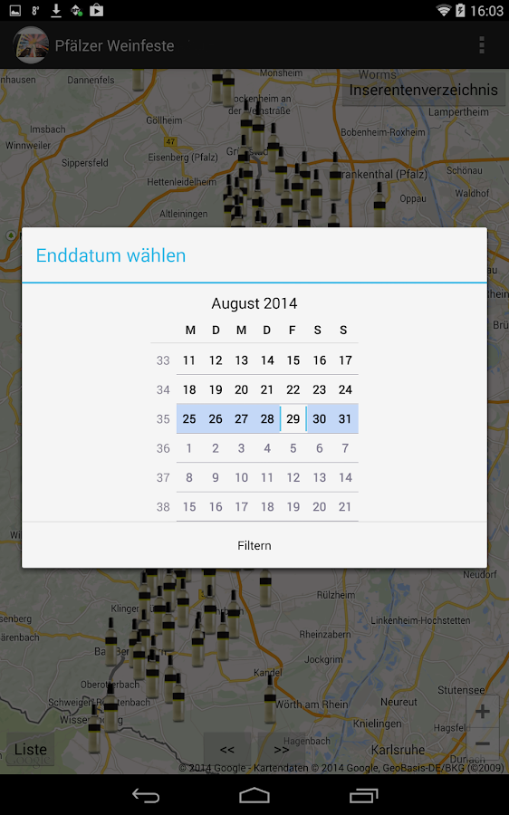Pfälzer Weinfeste 2017 – Screenshot