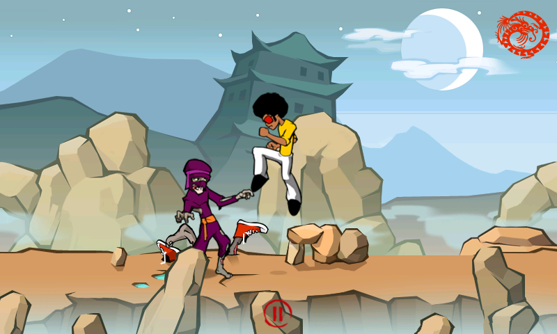 Funky Fighter vs Zombie Ninjas- screenshot