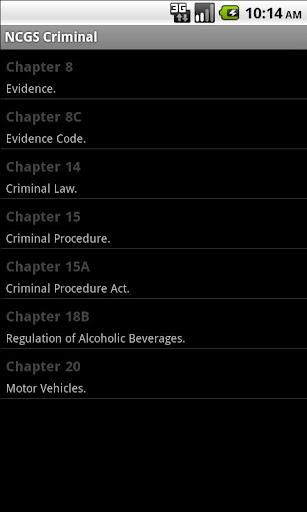 NC General Statutes - Criminal