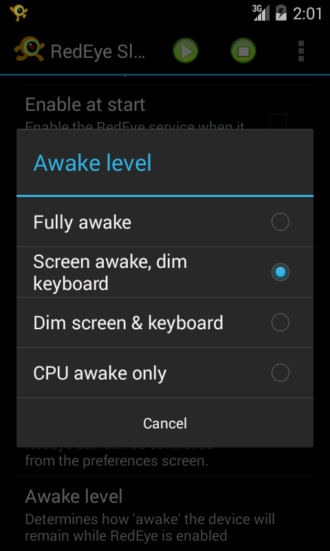 RedEye Stay Awake (free)- screenshot