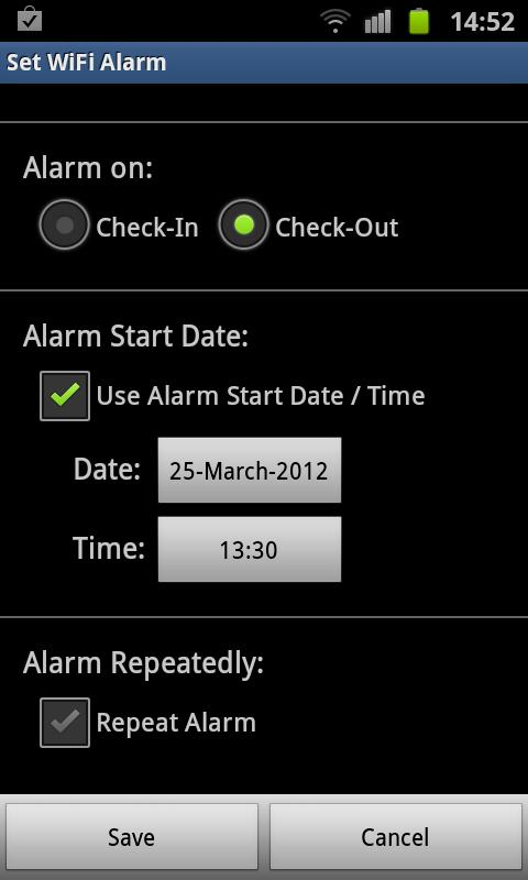 WiFi Alarm - screenshot