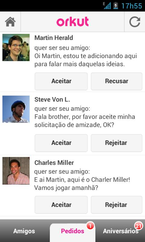 Orkut - screenshot