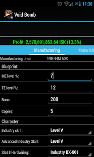 EVE Industry Calculator - screenshot thumbnail