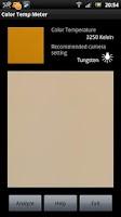 Screenshot of White Balance Color Temp Meter