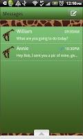 Screenshot of GO SMS THEME/GreenGiraffe