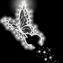Silver Butterfly Live Wallpape logo