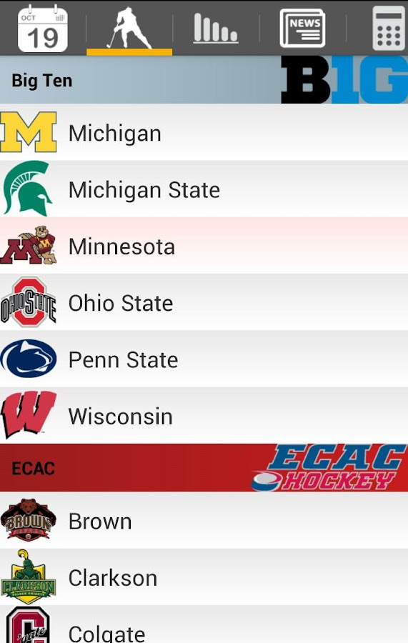 College Hockey News - screenshot