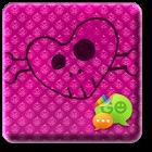 Pink Halloween Go SMS Theme icon