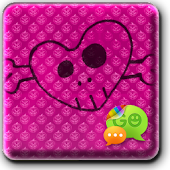 Pink Halloween Go SMS Theme
