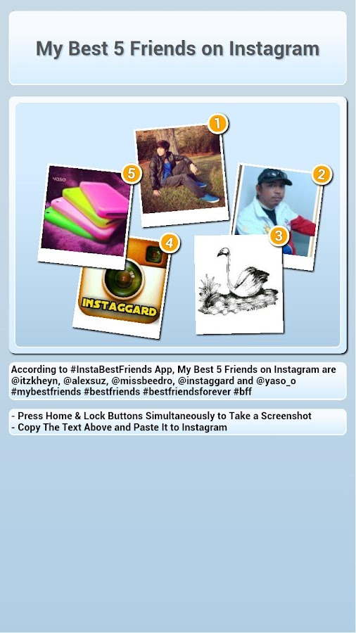 InstaBestFriends for Instagram - screenshot