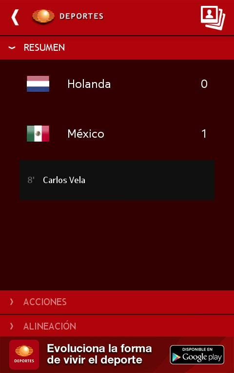 Televisa Deportes - screenshot