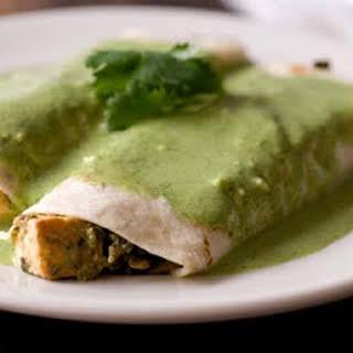Saag Paneer Enchiladas.