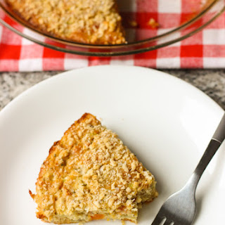 Self Crusting Quiche with Zucchini and Sweet Potato