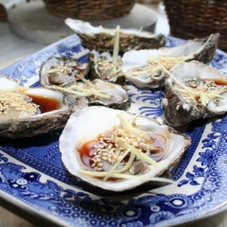 Oysters With Easy Ponzu Dressing.