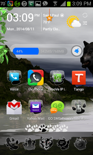 Wolf Go Launcher Theme