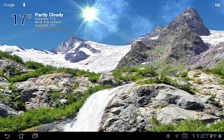 Screenshot of True Weather, Waterfalls