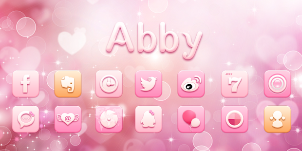 Abby GO Launcher Theme- screenshot thumbnail