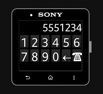 Dialling Pad for SmartWatch 2