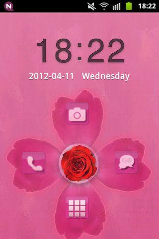 GO Locker Theme Pink Cute Rose - screenshot