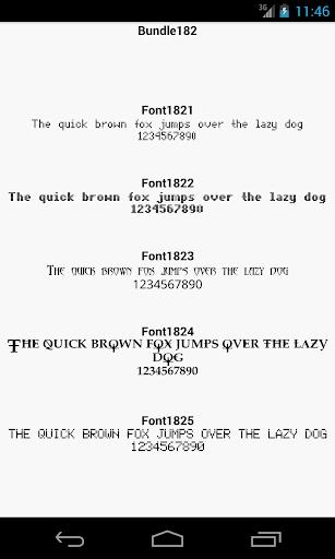Fonts for FlipFont 182