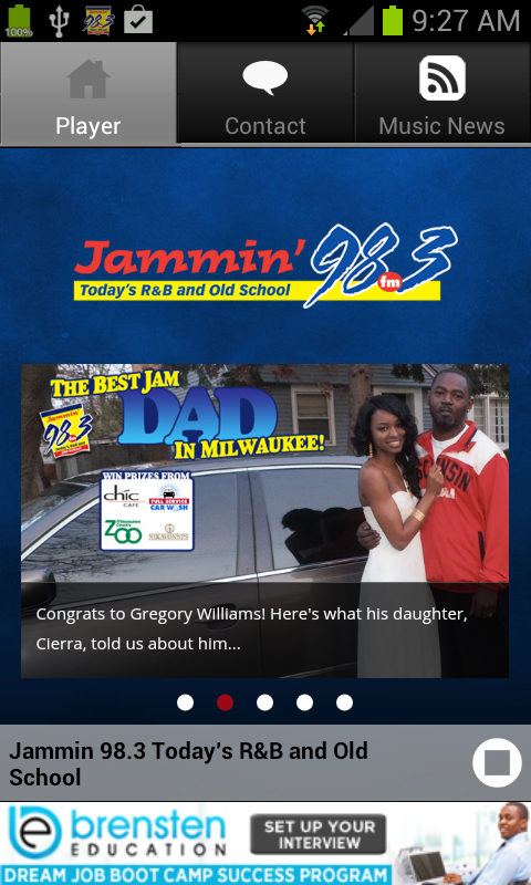 Jammin 98.3 - screenshot