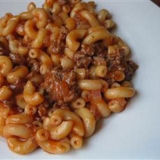 American Chop Suey Tomato Soup Recipes.