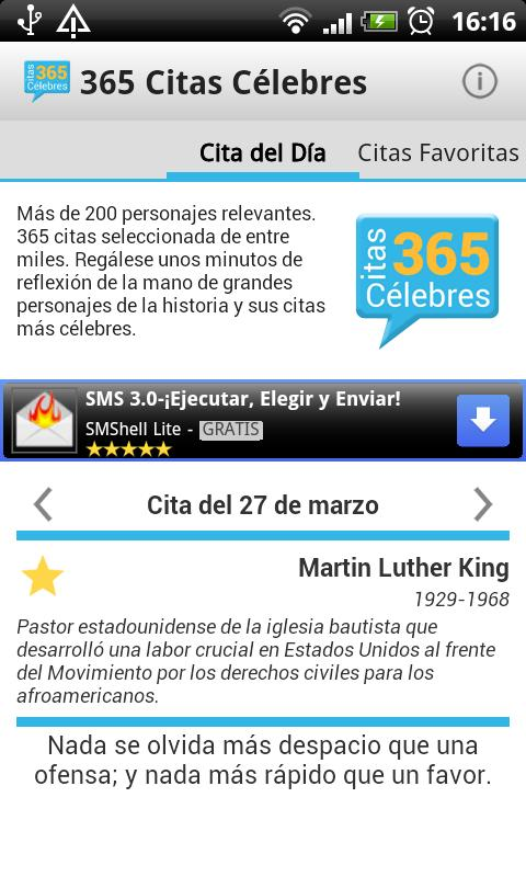 365 Citas Célebres - screenshot