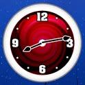 Red Clock Widget icon
