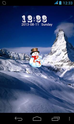 Snowman Alps LOCK SCREEN