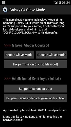 Galaxy S4 Glove Mode